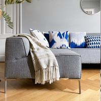 Botanic mini knitted cushion blue (NEW)