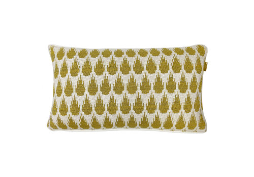 Botanic mini knitted cushion gold (NEW)