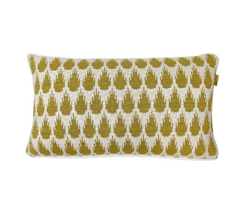 Botanic mini knitted cushion gold (NEW)