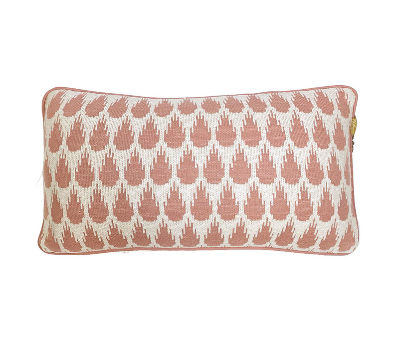 Botanic mini knitted cushion pink (NEW)