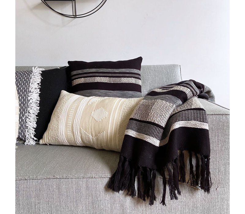 Black texture throw (NEW)