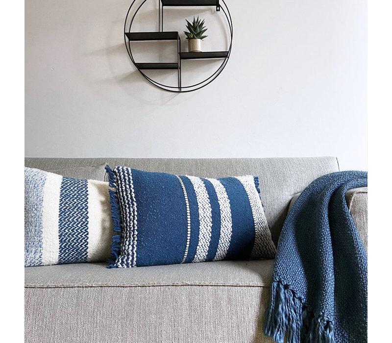 Berber dark blue cushion