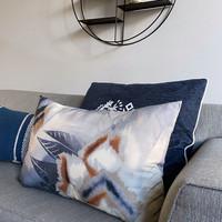 Desert flower cushion indigo