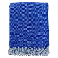 Rhinestone blue structure recycled wool throw (NEW)