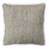 Floor cushion 100% wool diamond grey 90x90