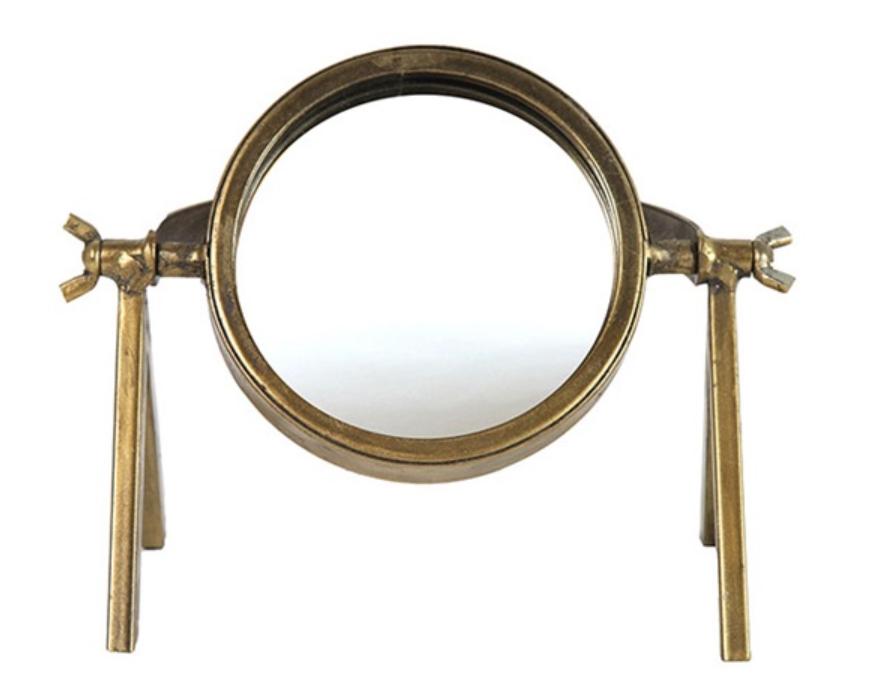 Luxury Label Industriële gouden staande spiegel