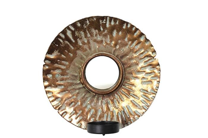 Countryfield Moderne brons ''Sharo '' spiegel - L15,6xB15,6xH4 cm