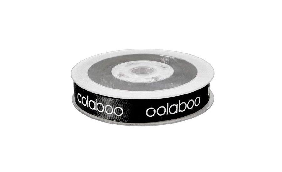 black ribbon oolaboo logo 15 mm/23m