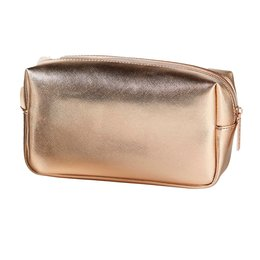Rosé Gold cosmetic bag