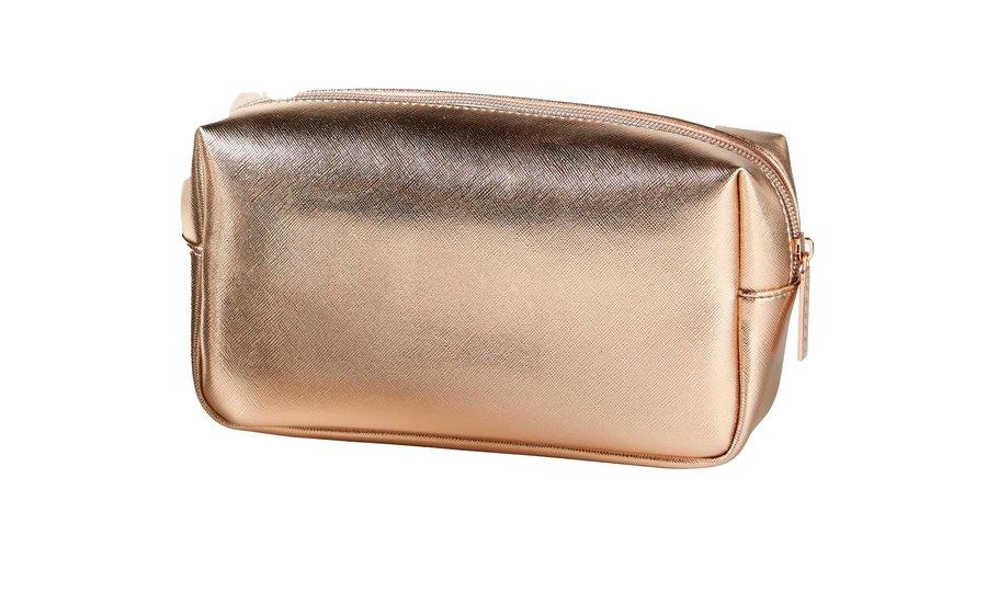 Rosé Gold cosmetic bag