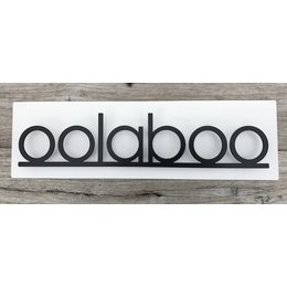 Wall sign steel-black/white