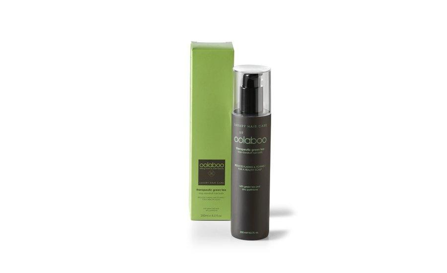 therapeutic green tea stop dandruff hair bath