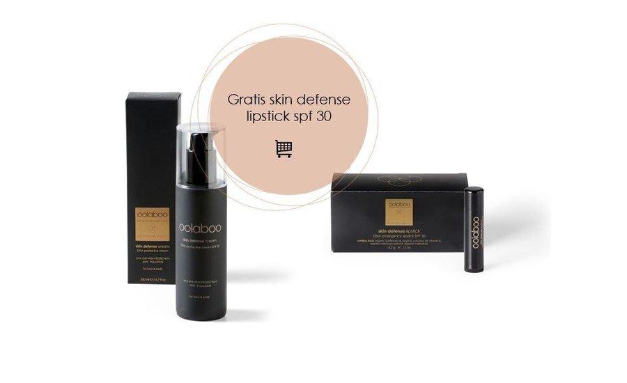 Skin defense dna protective cream spf 30 200 ml + gratis lipstick spf 30 twv € 14,95