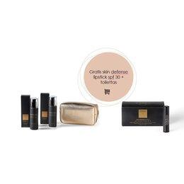 skin defense set + toilettas & lipstick