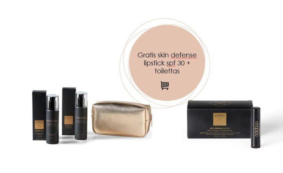 Skin defense dna protective set gratis toilettas twv € 29,95 + gratis lipstick spf 30 twv € 14,95