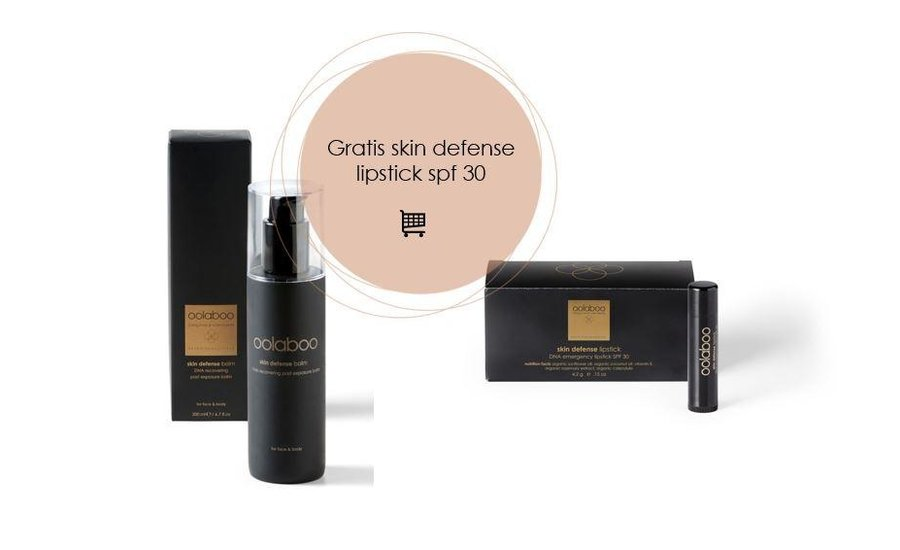 Skin defense dna recovering post exposure balm 200 ml + gratis lipstick spf 30 twv € 14,95