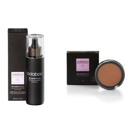 skin superb organic spray-on bronzer 200 ml + pearly glow pressed powder gratis