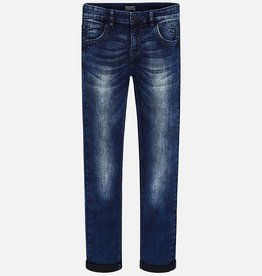 Mayoral Mayoral Super slim fit donkere denim broek 7512