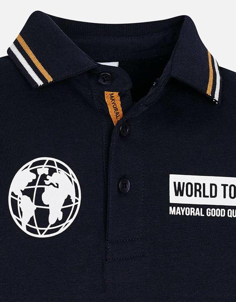 Mayoral Mayoral polo blauw/okergeel 4110