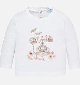 Mayoral Mayoral Shirt Wit/ Roze 2050