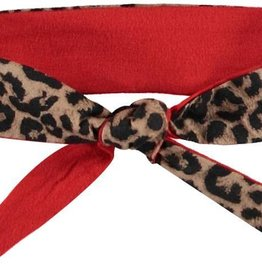 Quapi Quapi Haarband Panter print/ Diva Red Stripe