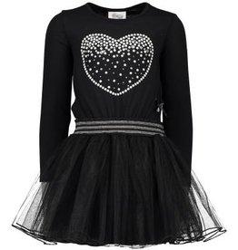 Le chic Le chic Jurk Petticoat Parel Hart Zwart/Roze