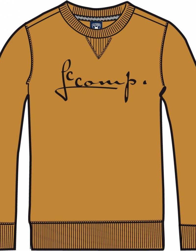 lcee Lcee Sweater Cobalt Of Oker Geel