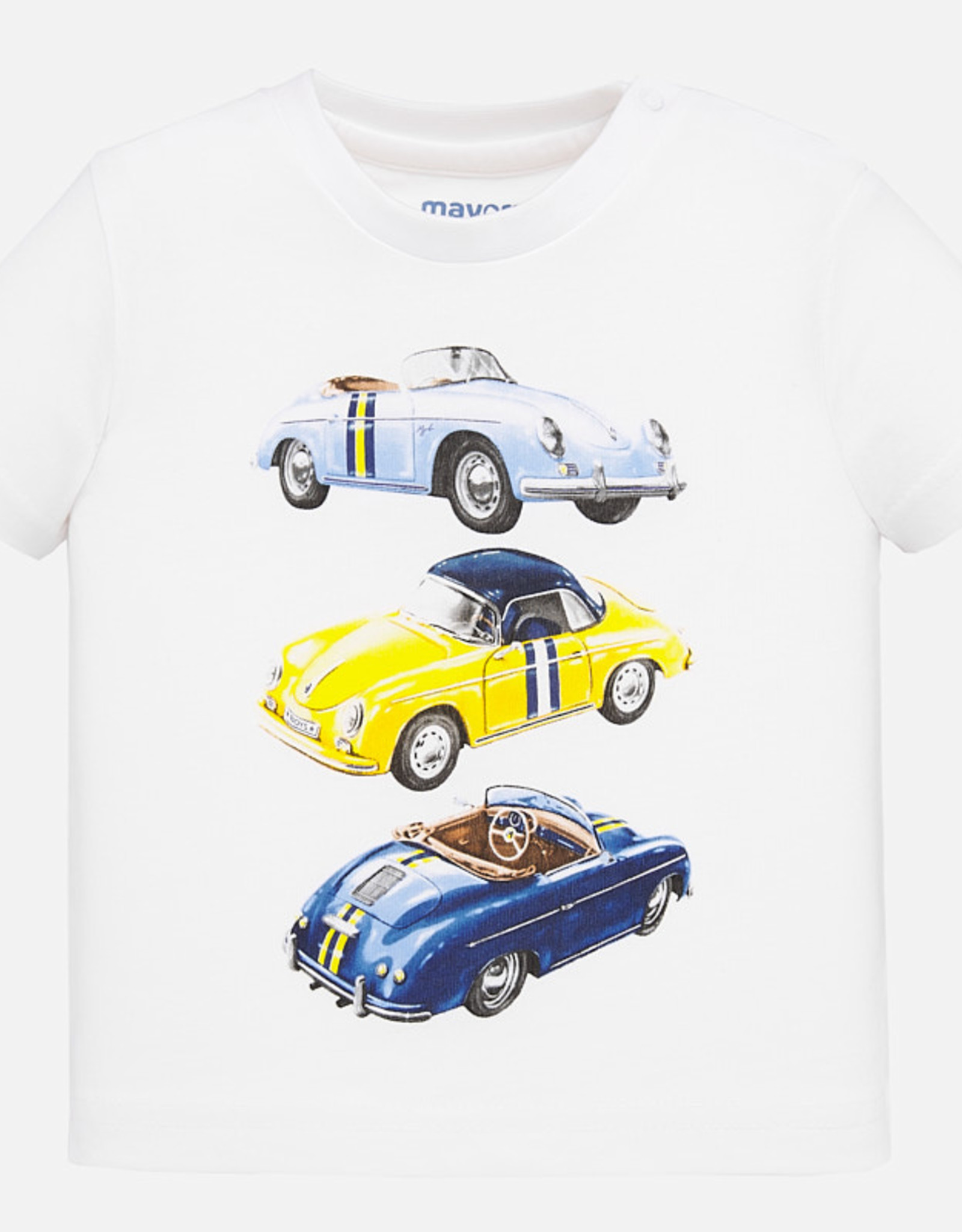 Mayoral Mayoral T-Shirt Wit / Auto's