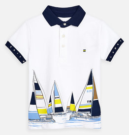 Mayoral Mayoral Polo Wit / Navy / Print