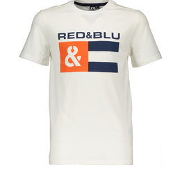 Red&Blu Red&Blu Shirt Off White Tekst