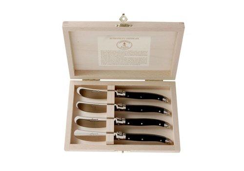 Laguiole Laguiole 4 Butter Knives Black in Box