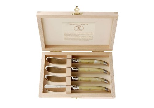 Laguiole Laguiole 4 Butter Knives Ivory in Box