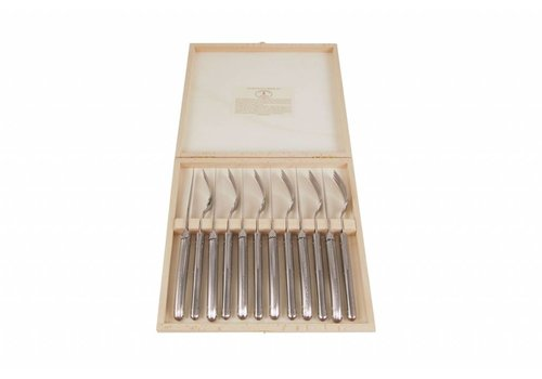 Laguiole Laguiole 6 Steak Knives 2,5 mm & 6 Forks Stainless Steel in Box