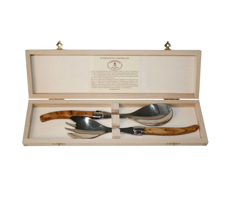 Laguiole Salad Set Olive in Box