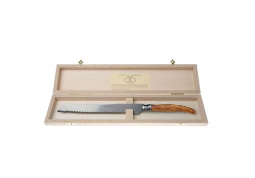 Laguiole Laguiole Bread Knife Olive in Box