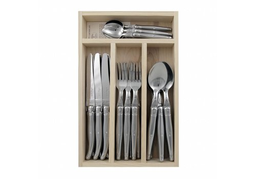 Laguiole Laguiole Dinner Set 24 Pcs Stainless Steel in Tray