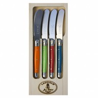 Laguiole 4 Butter Knives London Mix in Display