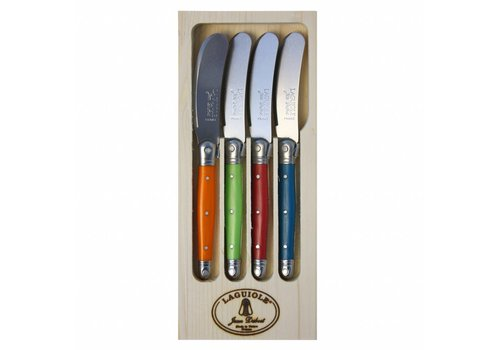 Laguiole Laguiole 4 Butter Knives London Mix in Display