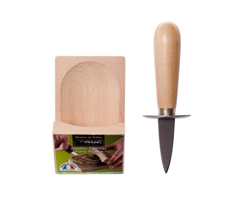 French ClassicsSet mit Austernhalterung & -messer Holz und Eisen