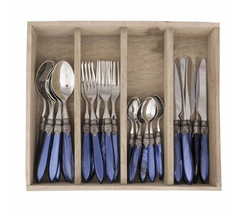 Murano 24 Teilig Blau in Kiste