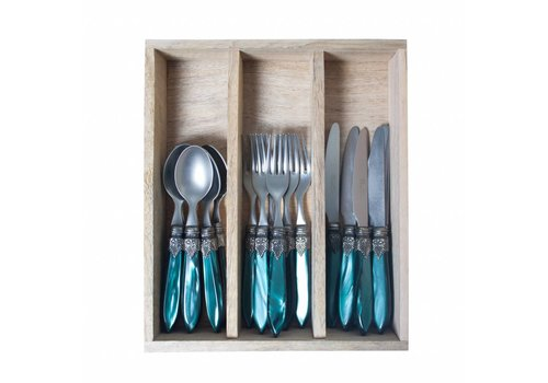 Murano Murano 18 piece Dessert-/Breakfast Set Dark Green