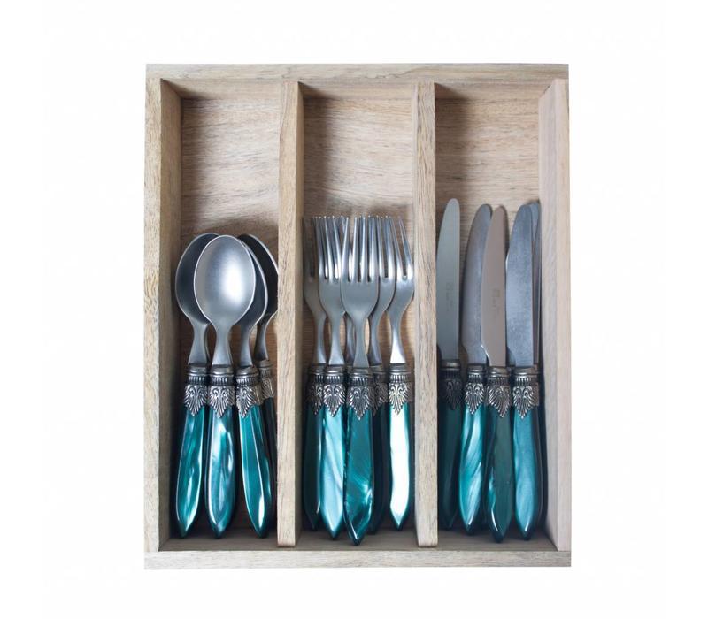 Frühstücksbesteck (18-teilig) Murano Dunkelgrün
