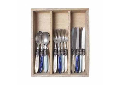 Murano Murano 18 piece Dessert-/Breakfast Set Sea Mix