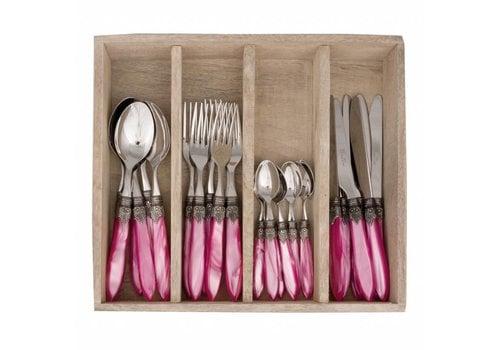 Murano Murano 24 Piece Cutlery Set Pink