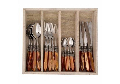 Murano Murano 24 Piece Cutlery Set Brick