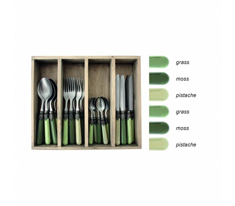Vintage 24-piece Dinner Cutlery Set Forest Mix