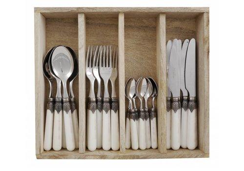 "Vintage Vintage 24-piece Dinner Cutlery ""Ivory"" in Box"