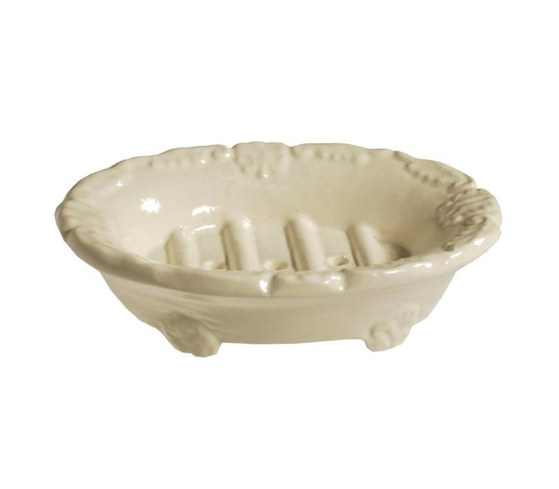 Au Bain de Marie Zeepbak Ovaal Crème Aluminium