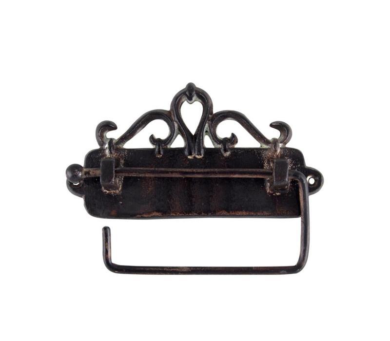 Au Bain de Marie toiletrolhouder hangend 17x3xH9 cm, ijzer, antiek finish
