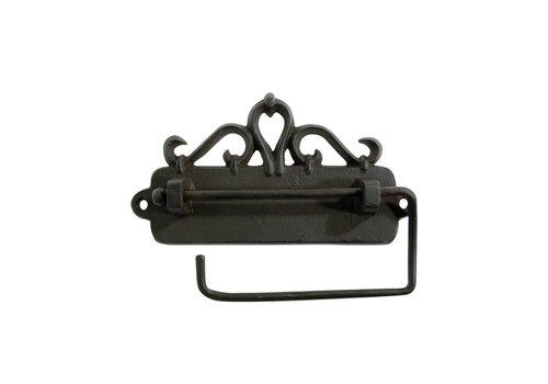 Au Bain de Marie Au Bain de Marie toilet roll holder hanging 17x3xH9 cm, iron, black